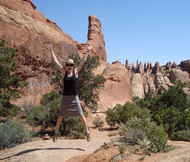 Jumping jacks in the desert