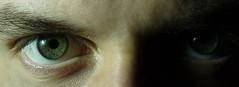 Eye (Esat Sanlav) Tags: circle black white green eyes portrait face macro shadow human world life ghost boy man dark darkside darkness m43 gf3 panasonic night indoor