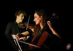 two musicians - one sound (Real_Aragorn) Tags: roger stein kreisler wortfront postmodernes arschloch sandra cello geige violine viola