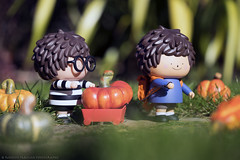 The boys at the pumpkin patch. (mediman30) Tags: ren treeson
