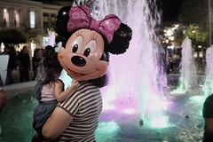 (Hellasman) Tags: kalamata greece mickey mouse balloon fountain candid color street