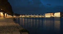 Toulouse by night France (31) (orb334) Tags: toulouse by night france nuit garonne blue hour pont neuf quai daurade hotel dieu