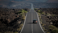 A road to Timanfaya national park in Lanzarote (Equinoxtvs) Tags: green timanfaya national park lava volcano lanzarote canary spain long focal distance 200mm fujifilm fujinon