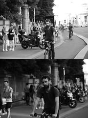[La Mia Citt][Pedala] (Urca) Tags: milano italia 2016 bicicletta pedalare ciclista ritrattostradale portrait dittico nikondigitale mir bike bicycle biancoenero blackandwhite bn bw 89584