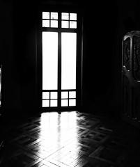 """The Light"" (giannipaoloziliani) Tags: phonephoto shapes elements biancoenero blackandwhite monocromatico monochrome window room light shadows sun sunlight luce ombre sole riflesso stanza sfondonero noire"