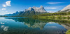Canmore pano (NettyA) Tags: 2014 alberta banffnationalpark canada canadianrockies canmore northamerica sonynex6 lake landscape mountains pano panorama reflection travel reservoir halingpeak