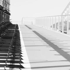 in the shadow (Sabine..) Tags: blackwhite licht zon schaduw zwartwit black white lijnen vormen shade lines abstract shades