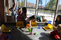 Jovie playing with water 2 (Aggiewelshes) Tags: october 2016 lehi utah travel museumofnaturalcuriosity thanksgivingpoint waterworks jovie vivian