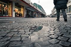 After the rain (johanbe) Tags: rain autumn cold wet puddle walk street västragatan kungälv sweden overcast mulet kallt höst regn blött sverige västkusten nikon sigma