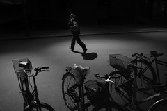 Let's get out of here (Bjarne Erick) Tags: man running into dark night street fuji x100t wlc 19mm 28mm