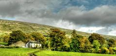 Schoolbred Farm Dent (raffaelecass) Tags: dent dales autumn england hdr tonemapped rural farm farming sheep grass red green yorkshire