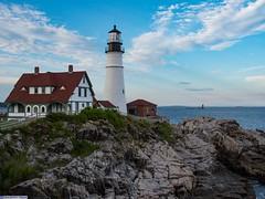 Portland Head lamp side view (Oakcrown) Tags: lighthouse portland head lamp ocean rocks maine
