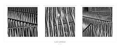 las lineas (freakingrabbit) Tags: böack white black bw sw tribtych square lines lineas abstract metal geometrical