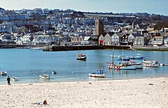 COR_252 - St Ives Harbour, Cornwall - 1984 (www.jhluxton.com - John H. Luxton Photography) Tags: johnhluxtonphotography wwwjhluxtoncom stives stivesharbour kernow cornwall uk penwith harbour westcountry 1984