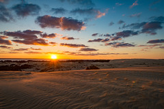 Jockey's Ridge Sunset (APGougePhotography) Tags: sun sunset dunes jockeys ridge state park obx outerbanks outer banks north carolina northcarolina clouds sand color cloudsstormssunsetssunrises nikon nikond800 d800 adobe adobelightroom