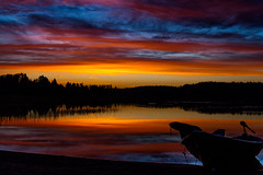 Sunset (Henryhayfever) Tags: sunset lake finland summer redmatrix picflixdigitalimages
