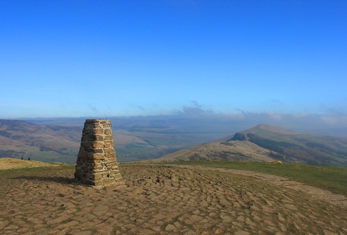 Trig Pillar on Mam Tor
