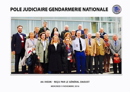 #AAIHEN au #PJGN avec le Général Daoust #IRCGN #RenseignementCriminel #C3N  #ihedn #criminalistique  #PoleJudiciaire de la #GendarmerieNationale  👮⚖️🔎💣📲 Grand merci à la Gendarmerie Nationale !