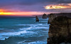 12 Apostles, Great Ocean Road, Victoria, Australia (gi-moon Kang) Tags: great ocean road victoria australia 12apostles sea sunset shower rain landscape cliff waves nikon d5300