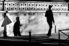 The hookman (pascalcolin1) Tags: paris13 ombre shadows homme man crochet hook hookman hommecrochet soleil sun photoderue streetview urbanarte noiretblanc blackandwhite photopascalcolin