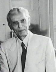 A close up of Mr. Jinnah at the June 3 talks (Doc Kazi) Tags: pakistan india independence negotiations ceremonies jinnah gandhi nehru mountbatten viceroy wavell stafford cripps edwina fatima muhammad ali