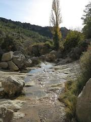 rock pools in the winter (squeezemonkey) Tags: catalunya abelladelaconca rockpools landscape stream river water winter creek boulders