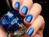 Hot Topic - Blackheart Royally Screwed (Raíssa Assis) Tags: esmalte importado azul caveirinha hot topic glitter diferente nail nailpolish vernis
