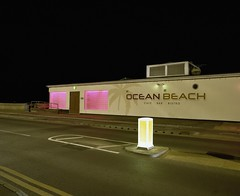 (danny.rowton) Tags: portra160 slr pentax6x7 night nightlandscape longexposure pink seaside analogue analog lowlight film 120 mediumformat restaurant