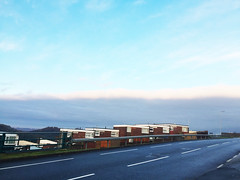 (LillieMortonPhotography) Tags: blue foreground houses cloud road grass green weather