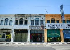 Old buildings at George Town in Penang, Malaysia (phuong.sg@gmail.com) Tags: architecture asia asian beautiful building business city classic destination downtown george georgetown heritage historic historical history holiday house journey landmark lifestyle malaysia malaysian market old outdoor penang people retro road scene shop sightseeing street tour tourism tourist tower town traffic transport transportation travel trip urban vintage way