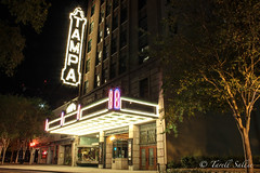 Tampa Theatre. Nov 2016 (tarell_sallie) Tags: tampa florida tampabay hillsborough hillsboroughcounty bay bayarea usa unitedstates america unitedstatesofamerica theatre tampatheatre november 2016 thanksgiving light sign entertainment copyright macbook mac apple lightroom city landscape cityscape urban landmark exposure longexposure canon canont3i tree show building buildingscape travel night nightphoto nightlife nightphotography