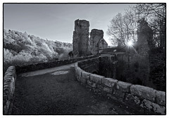 Roslin Castle November (Jimolin107) Tags: blackwhite monochrome scotland roslin roslyn roslincastle stonework lowsun