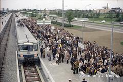 Mnchen 26-Mai 1972 Erffnung S-Bahnhof Olympiastadion Mnchen (Pacific11) Tags: udssr sbahn train track olympiabahnhof station railway olympiastadion et420