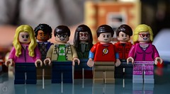 Got the Gang Together.... (Little Hand Images) Tags: lego legopeople buildingblocks bigbangtheory toys construction shallowdof blurredbackground