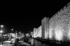 DSCF9699 (Joshua Williams' Photography) Tags: jerusalem israel bw night oldcity
