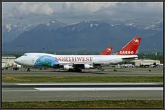 N645NW Northwest Airlines Cargo (Bob Garrard) Tags: n645nw northwest airlines cargo united n151ua kalitta air n793ck anc panc