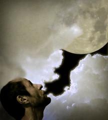 s'cuse me while I..... (simply-bob) Tags: kissthesky kiss sky esoterica fantasy clouds moon face