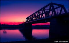 Lightroom Extreme...Railwaybridge Deventer (Hans van Bockel) Tags: bridge coolpix dng deventer hansvanbockel helder ijssel kleur koud lightroom nrw nikon p7700 photoshop raw spoorbrug vrieslucht zonsondergang thenetherlands nld