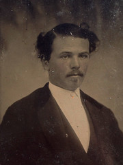 Unknown Man (~ Lone Wadi Archives ~) Tags: tintype portrait mustache gentleman lostphoto foundphoto 1860s 19thcentury victorian mysterious unknown