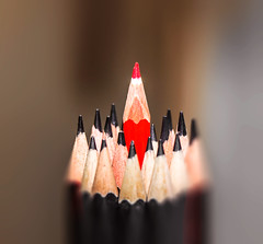 Colour - 23 (mithila909) Tags: pencil colourpencil colours black red stilllife dof