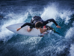 Surfer 1 (mikeselsewhere) Tags: snapperrocks surf beach