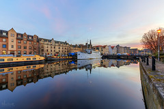 The Shore at twilight (MilesGrayPhotography (AnimalsBeforeHumans)) Tags: architecture auldreekie britain boat canon 6d canon6d 1635 canonef1635mmf4lisusm dusk edinburgh eos ef europe evening f4l iconic landscape longexposure leith le nd nighfall outdoors photography reflections river scotland skyline sky scenic town twilight uk unitedkingdom village villagearchitecture waterscape waterofleith