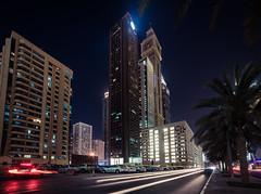 Maze building (jmhuttun) Tags: night buildings nikon dubai uae unitedarabemirates d800 sheikhzayedroad