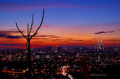 View from Ampang Look Out Point (abrani61) Tags: city sunset high dusk ground malaysia kl ampang