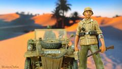 The Weary Traveler (WesternOutlaw) Tags: northafrica ww2 marx toysoldiers rommel panzer dak 21stcentury kubelwagen panzeriii afrikakorps oryon ultimatesoldier panzer3 afrikakorpsdiorama