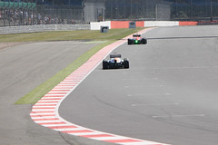 Sutil Chasing Down Gonzales (F1 Photography) Tags: test india sahara car race germany 1 team driving force gonzales russia young f1 silverstone formula driver adrian fia sfi motorsport rudolfo pirelli sutil ydt marussia