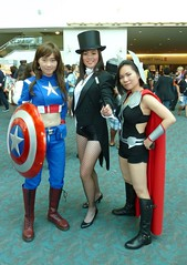 Zatanna with Captain America & Thor at SDCC 2013 (Cutterin) Tags: woman girl dc kat san comic cosplay diego adamhughes thor comiccon captainamerica con avengers sdcc zatanna 2013 sdcc2013 sandiegocomiccon2013 cutterin dreamhats