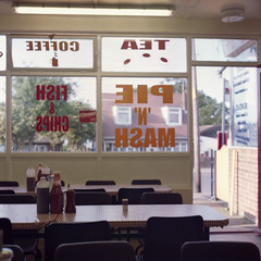 Kiev 88 + MC Volna 3 80mm lens (danielcane) Tags: kiev 88 kiev88 mc volna 80mm 120 film 120film analogue colournegative colour negative c41 v500 epsonv500 epson fujicolor fujifilm nph 400 nph400 iso 400iso 10yearsexpired expiredfilm expired isleofsheppey sheppey island swale theswale kent coast coastline building buildings architecture thames thamesestuary cafe table tables window windows chair chairs pie mash fish chips ketchup brownsauce door doorway tea coffee sugar light interior mediumformat