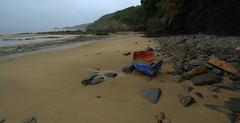 Better days Boat at Saundersfoot (mikeyb125) Tags: beach water wales coast boat rocks westwales wreck pembrokeshire tidal saundersfoot