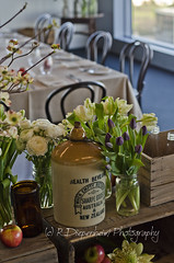 Rustic boxes and flowers (R.Diepenheim Photography) Tags: flowers apple glass floral dinner table lunch corporate wooden chairs display formal event boxes setting